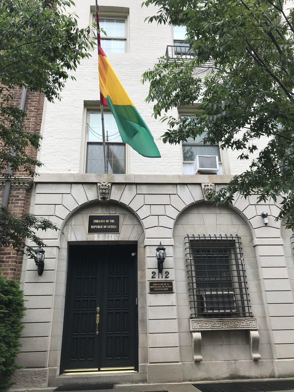 The Embassy of the Republic of Guinea.