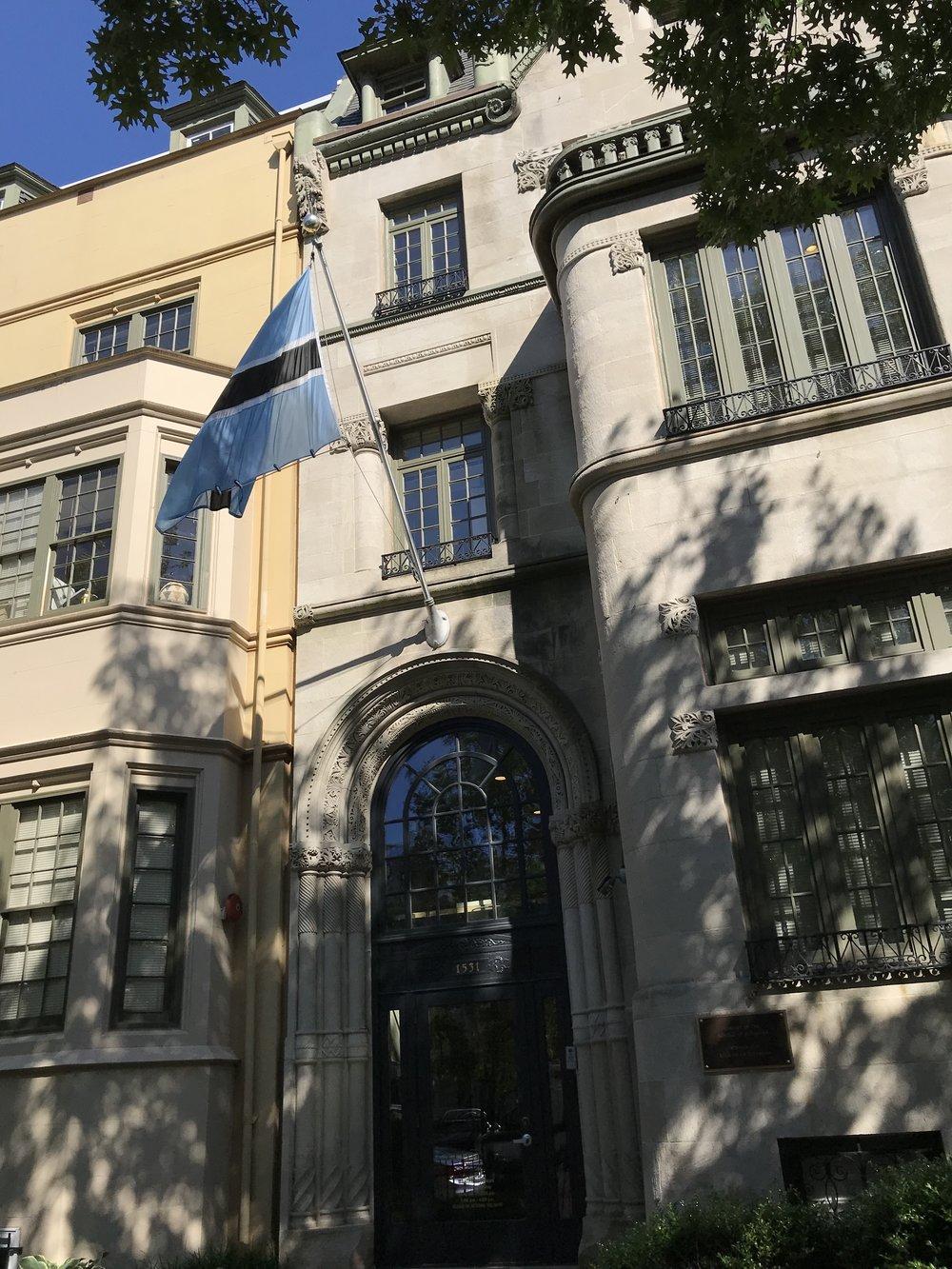 The Embassy of Botswana.