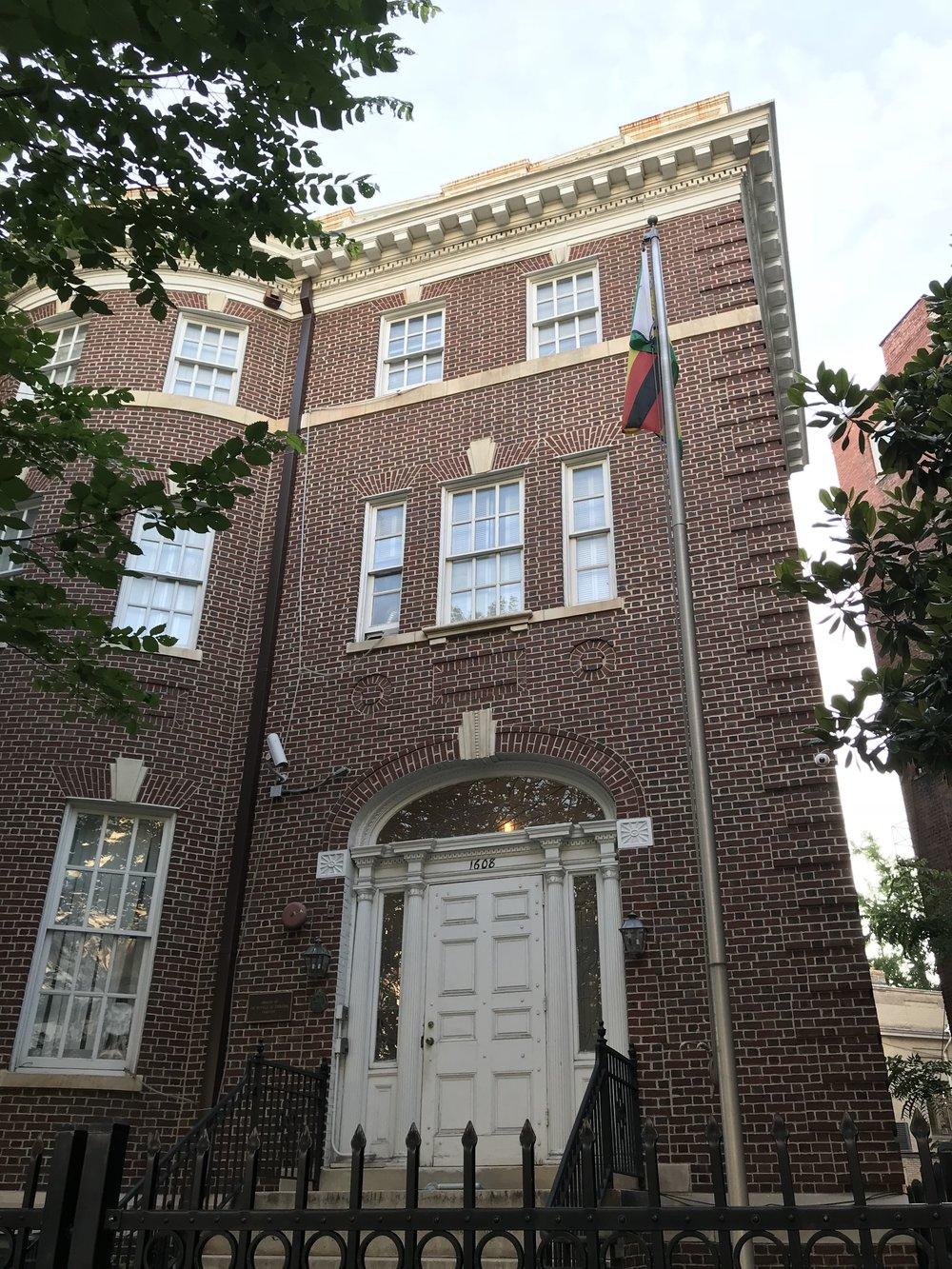 The Embassy of Zimbabwe.