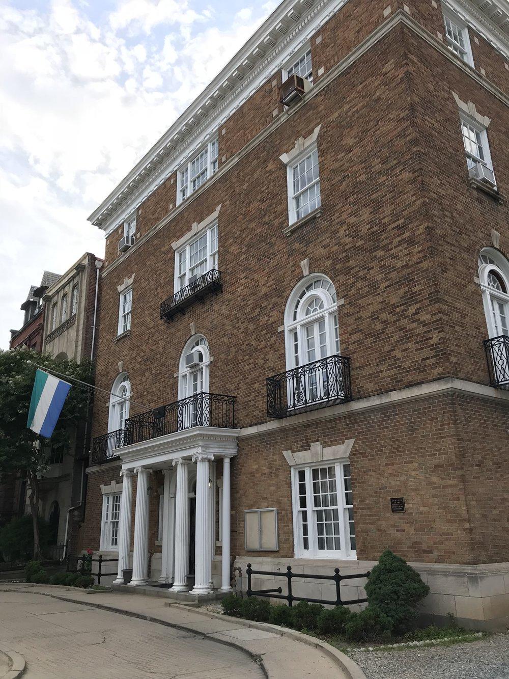 The Embassy of Sierra Leone.