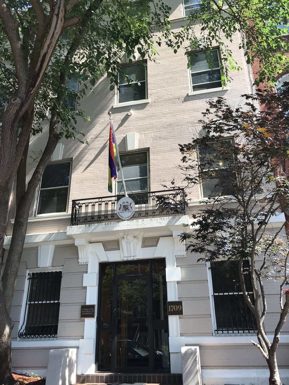 The Embassy of Mauritius.