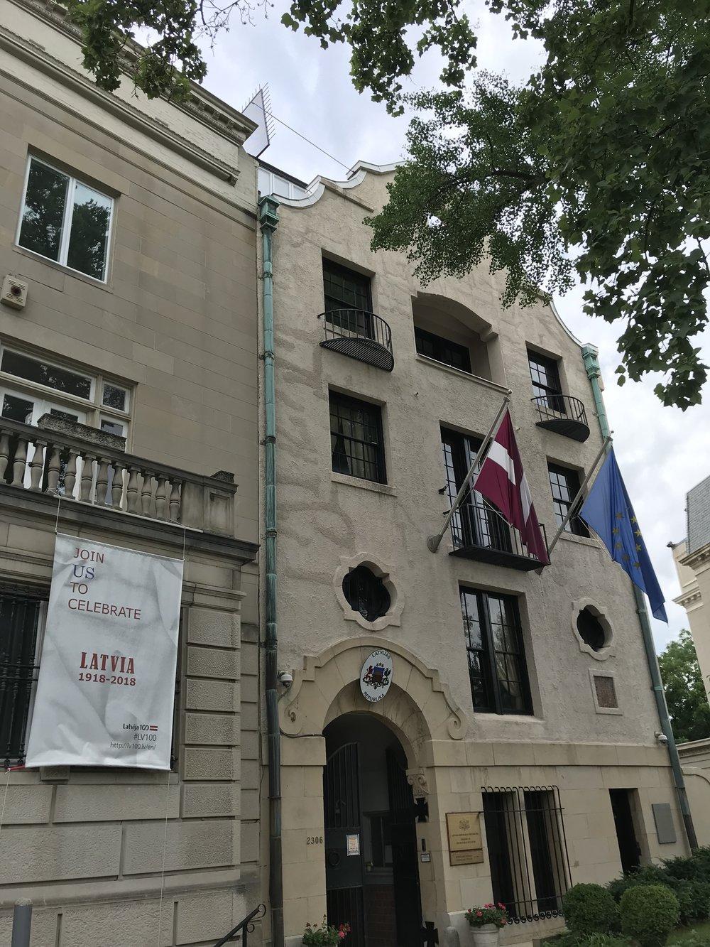 The Embassy of Latvia.