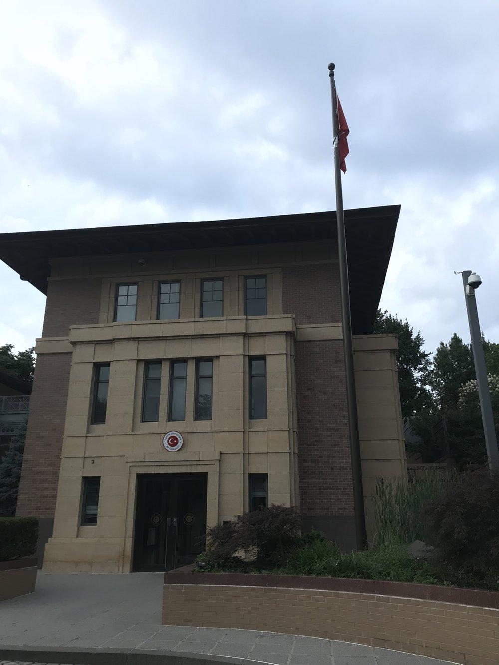 The Embassy of Turkey.