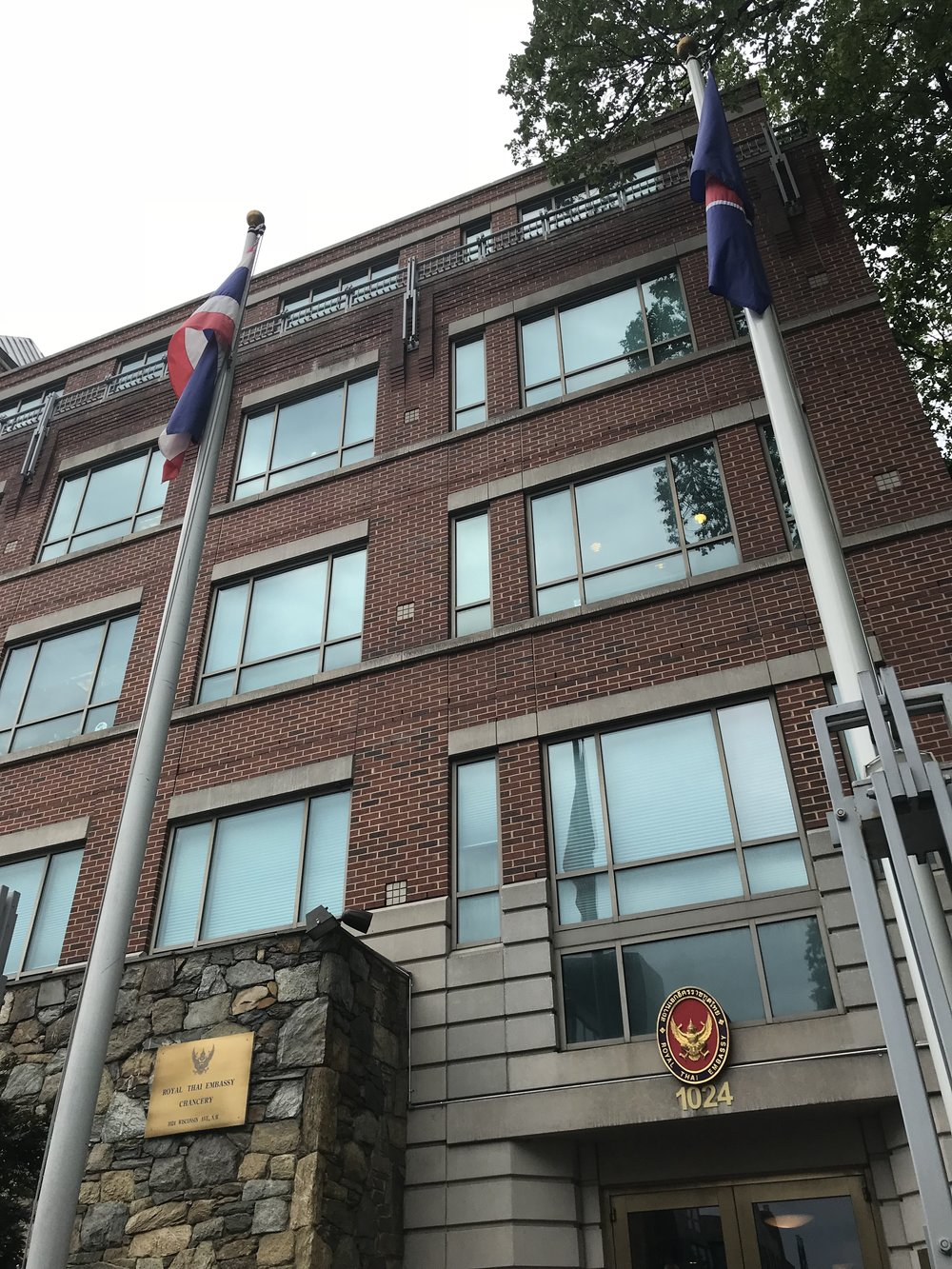 The Royal Thai Embassy.