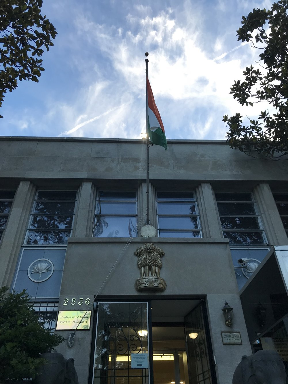 The Consular Office of the Embassy of India.
