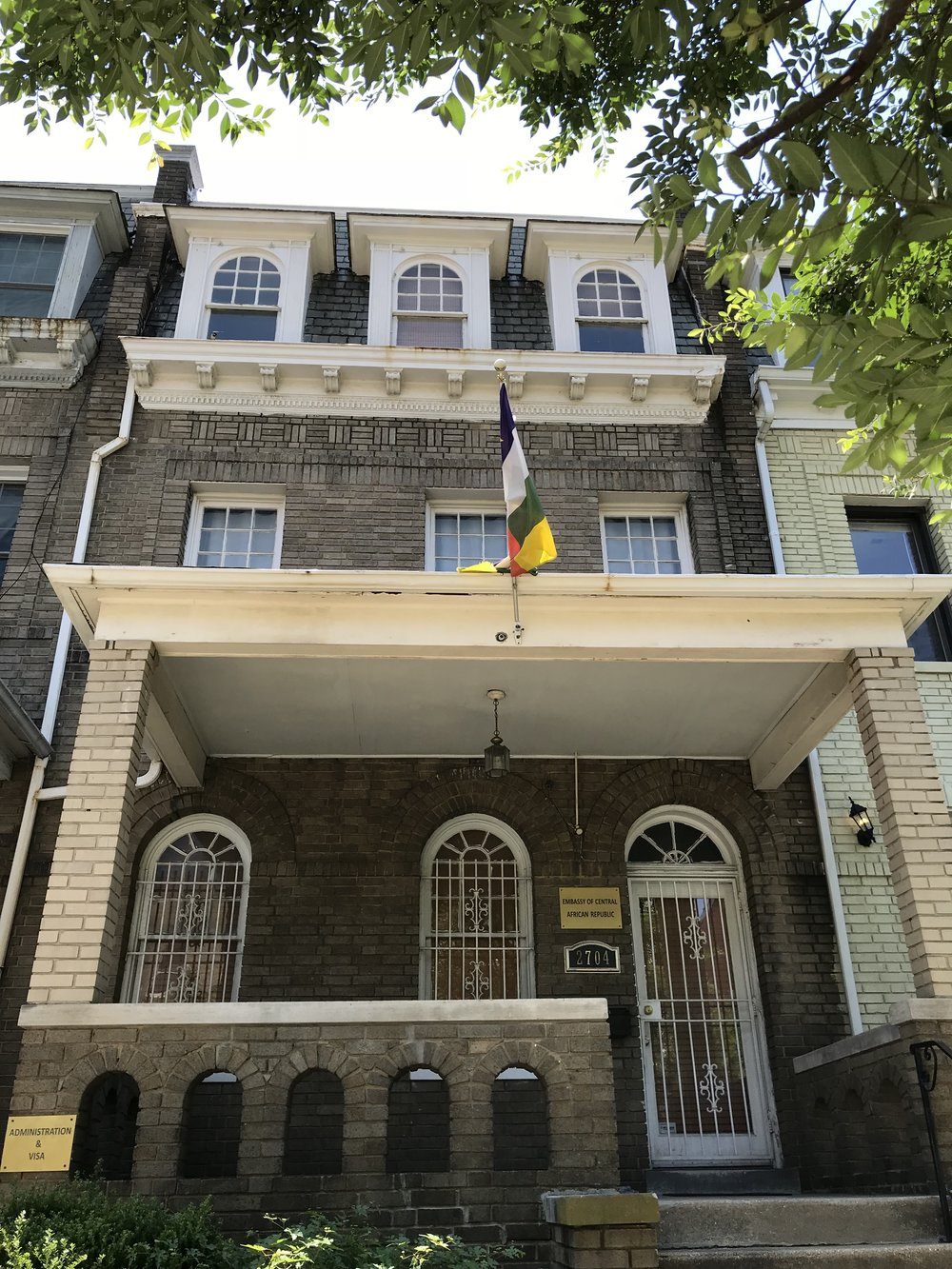 The Embassy of the Central African Republic.