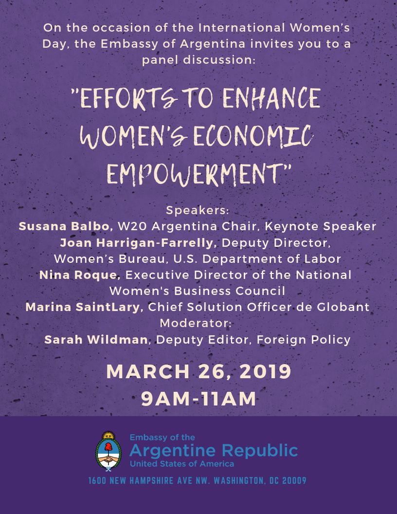 Panel Discussion: Efforts to enhance women's economic
