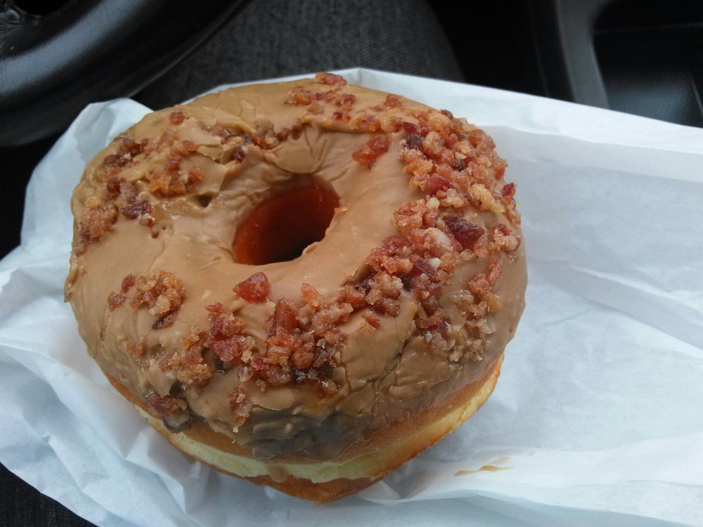 Oh my ,  just came over to Jelly Donuts! The Maple Bacon donut!  About to devour this without guilt! You guys make the best donuts!! - Marg