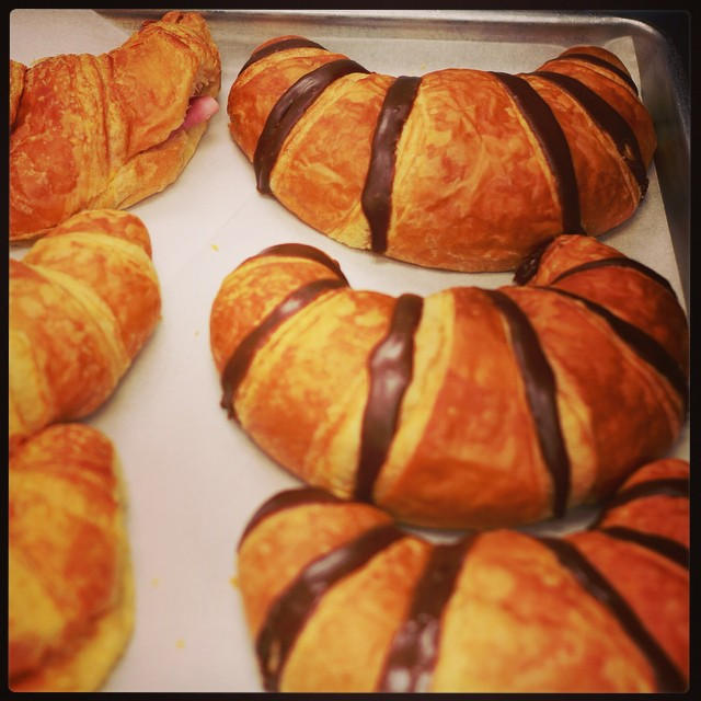 Croissants smile right back at you!
