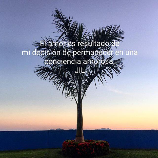 El amor es resultado de mi decisión de permanecer en una conciencia amorosa. #abundance #conciencia #awareness #alegria#peace