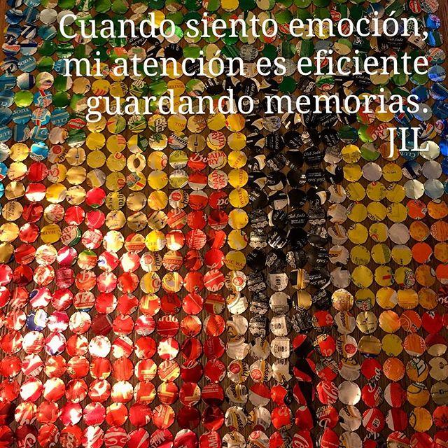 Cuando siento emoción, mi atención es eficiente guardando memorias. #abundance #conciencia #awareness #alegria #atención #memories #recuerdos
