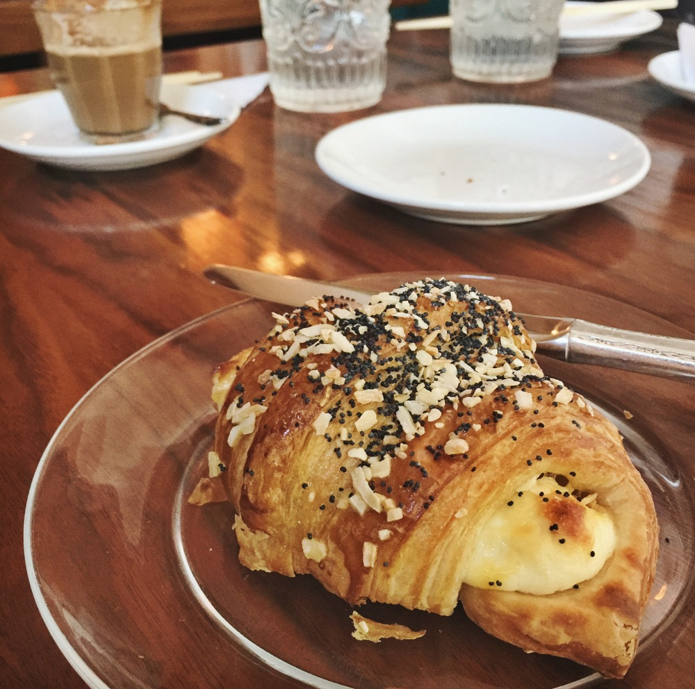This 'everything' croissant filled with cream cheese (?) - it was everything.