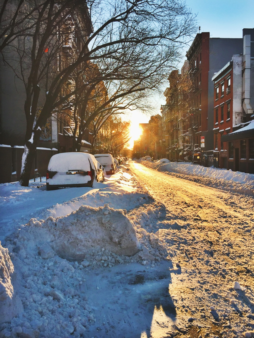 Nothing beats a sunrise covering the glean of fresh snow. Anything but frozen for the feels here.