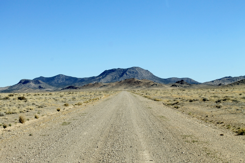 The road to Conger Mountain