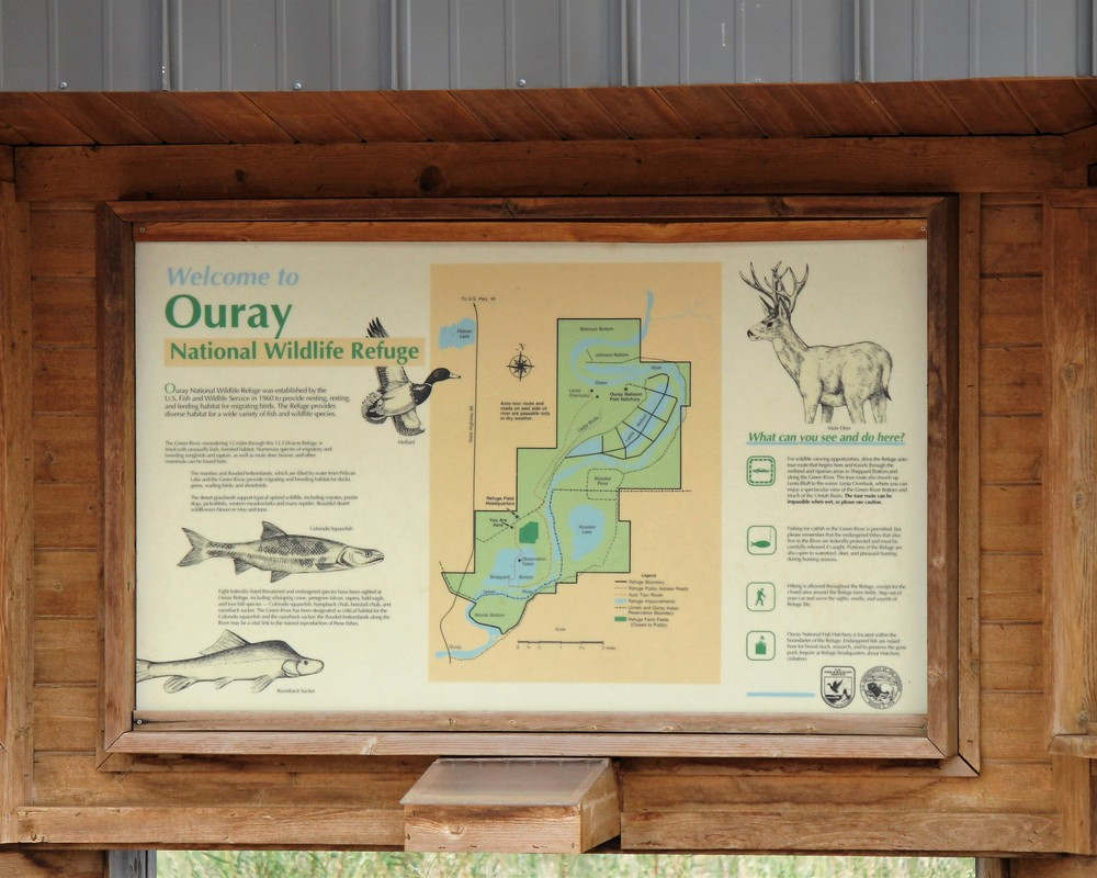 Entrance kiosk at Ouray NWR
