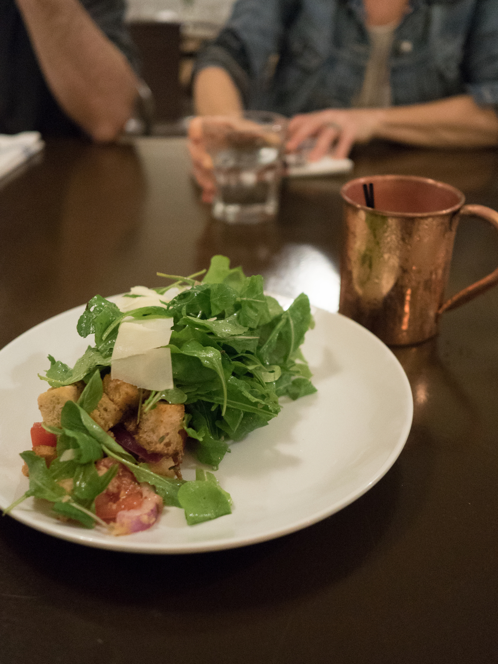 Looks simple enough, but this salad at Hana Ranch Provisions was a perfect starter.
