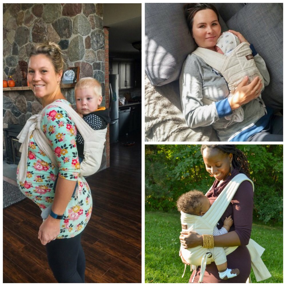 Our soft structured carrier is versatile.  It gives you the freedom to choose the most comfortable part on your body to wear your baby (even during pregnancy or after a C- section).  