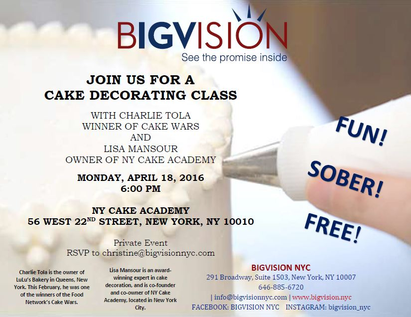 Cake Decorating Class   BIGVISION