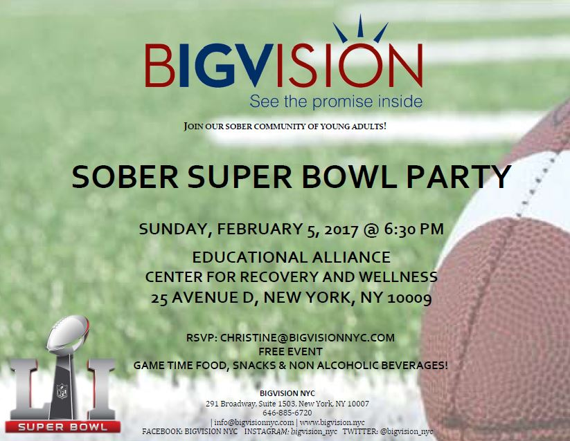 Sober Super Bowl Party BIGVISION
