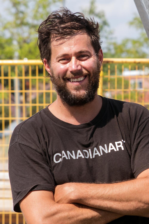 """Sébastien on the site of """"La vélocité des lieux"""""""