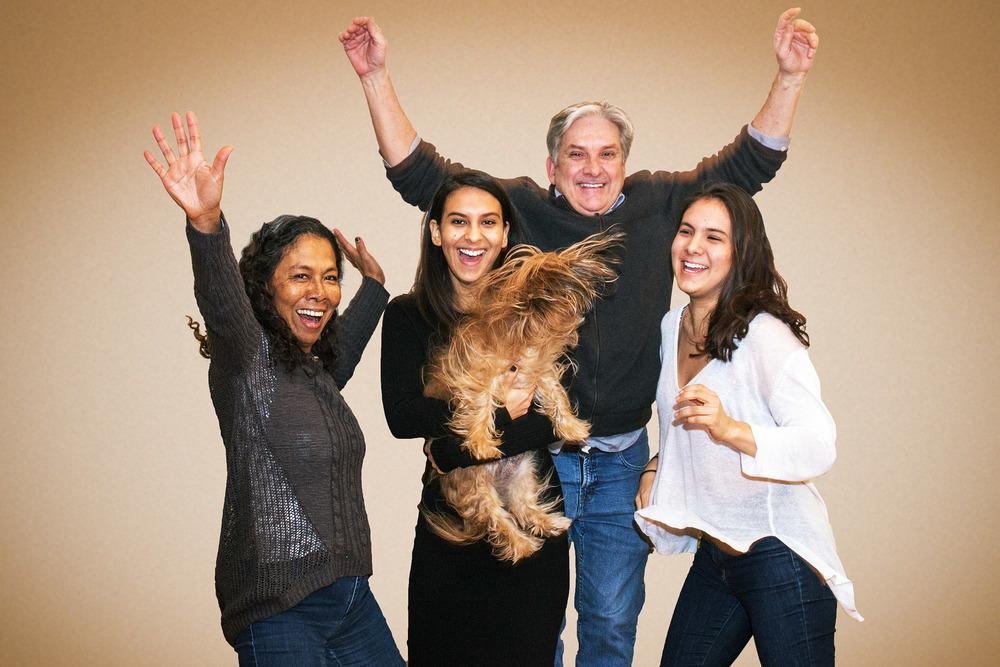 Mercedez, Amélie avec Pelusa, Michel et Adriana