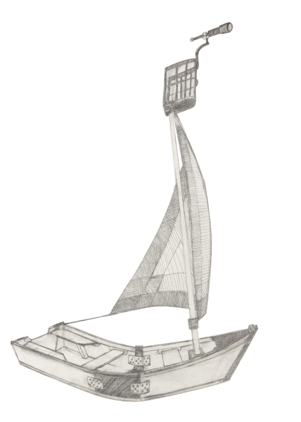 L'Île-de-Montréal, ébauche détaillée, mine de plomb sur papier, 2016
