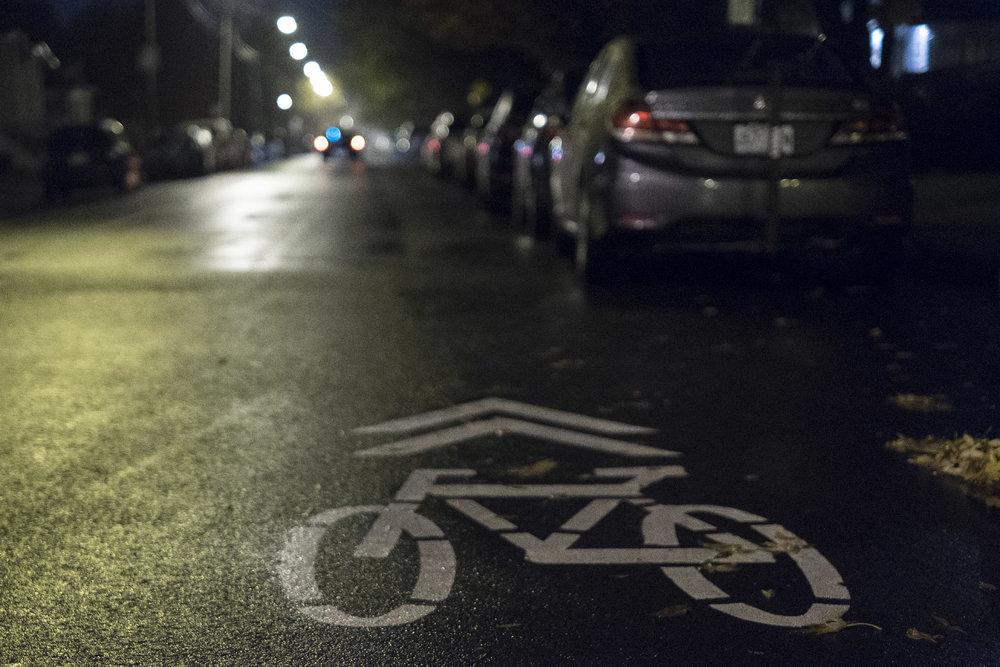 Nouveau trajet cyclable, avenue Georges-Baril, Sault-au-Récollet