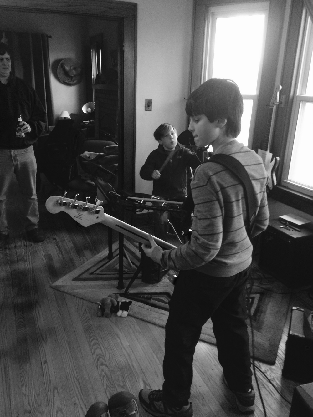 (From left to right)Brendan Donnell Pitz (drums) and Sam Pulsipher (bass), photo by Michael Pitz