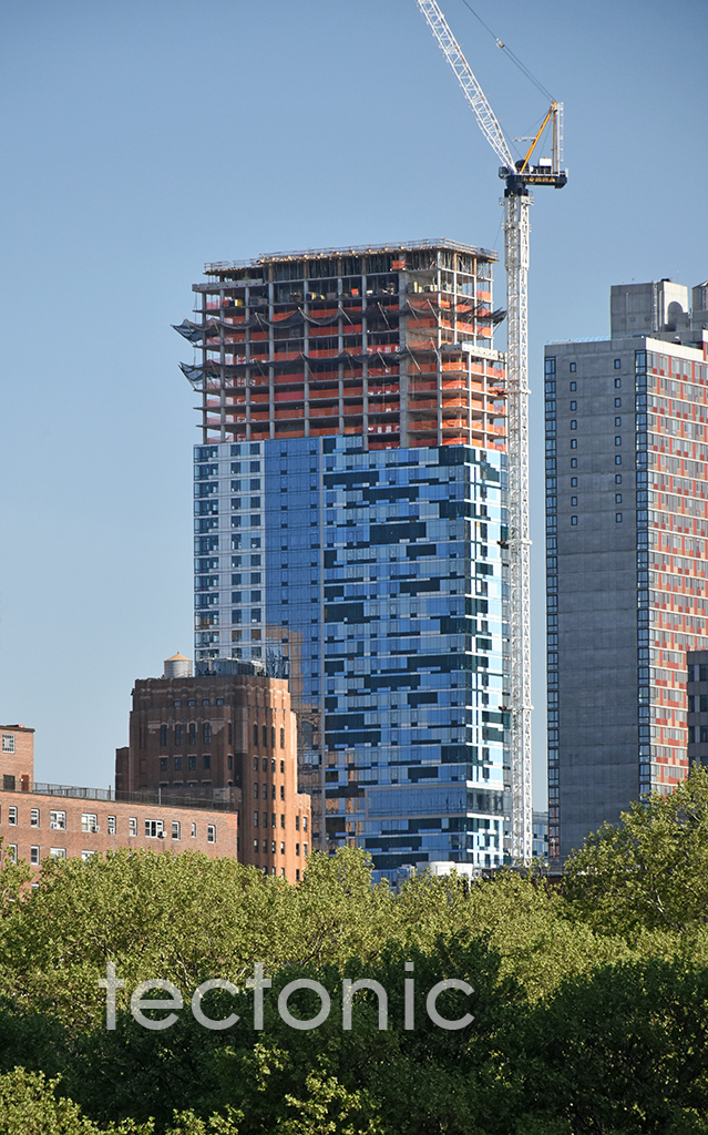 Viewed from the Brooklyn Bridge in May