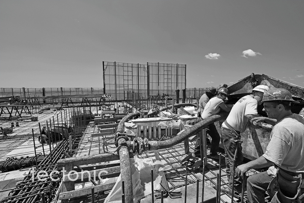 Working on the 50th Floor deck