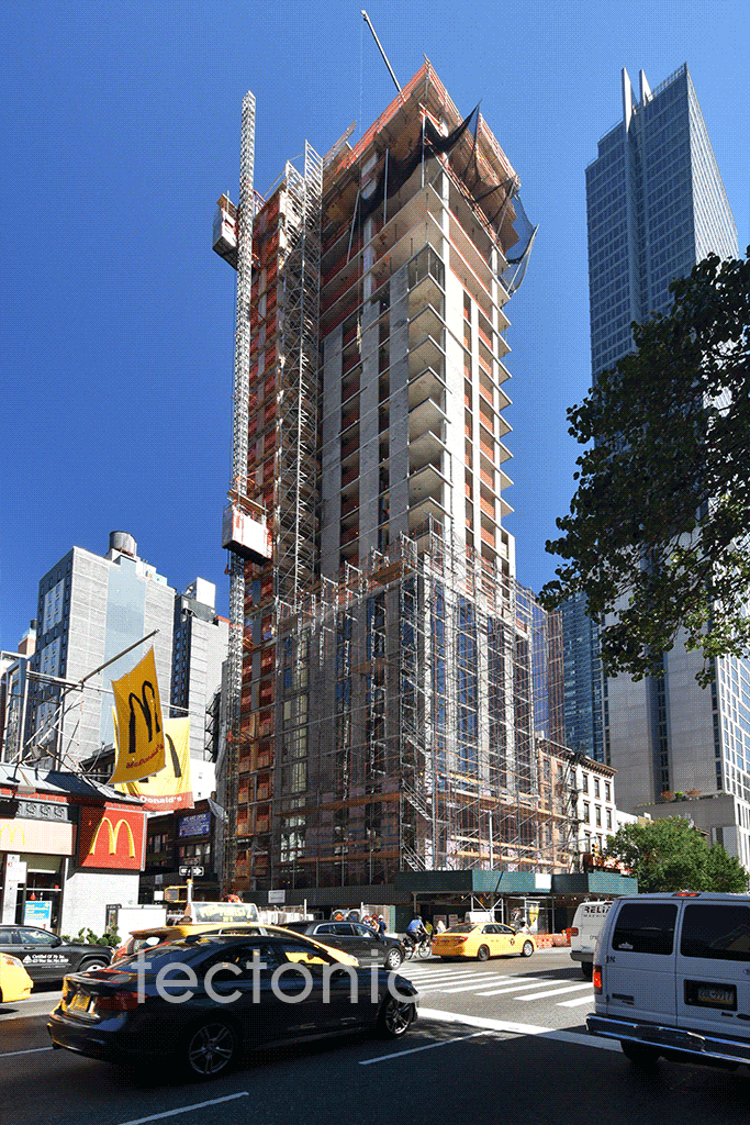 Viewed along 6th Avenue