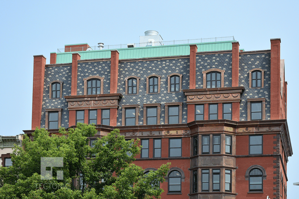 Upper floors and mansard roof