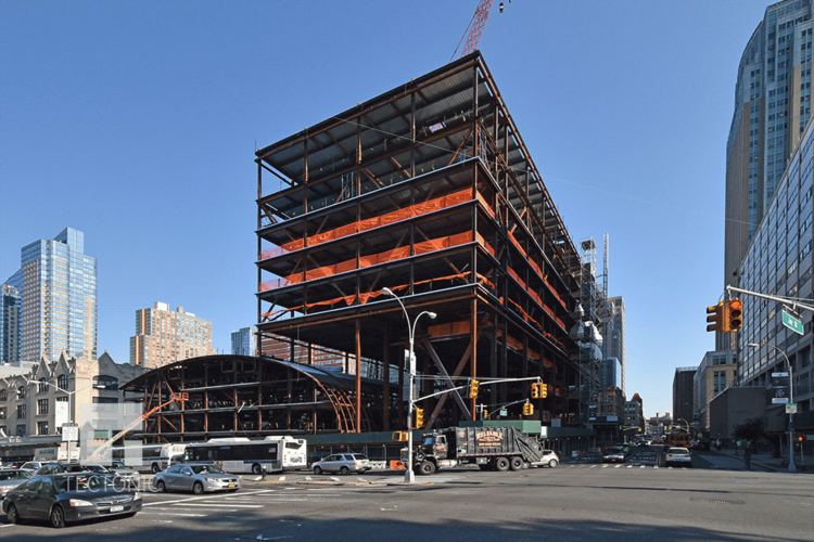New York City College Of Technology Klitgord Center Construction - City college of new york architecture