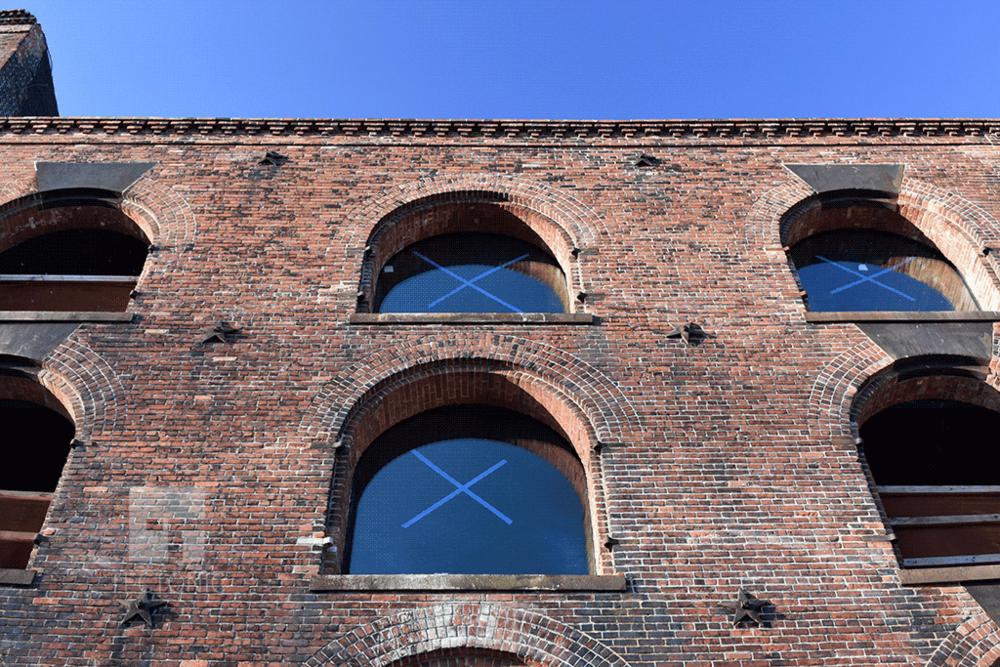 North facing facade
