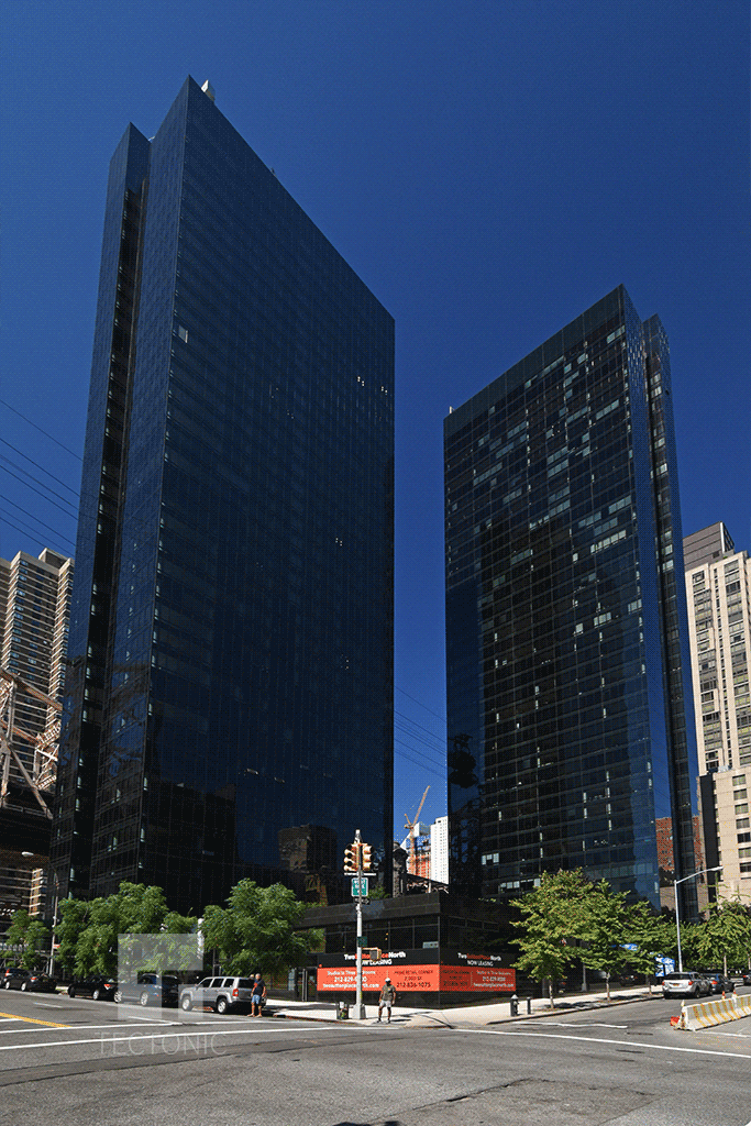 With One Sutton Place North on the right