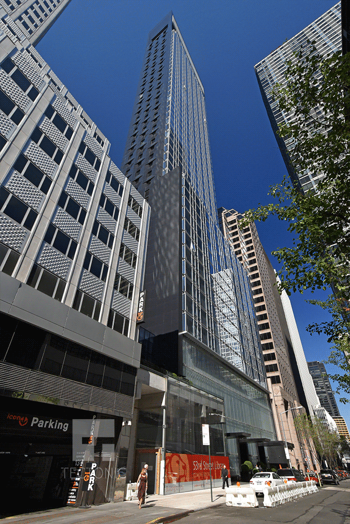 Viewed from the east along West 53rd Street