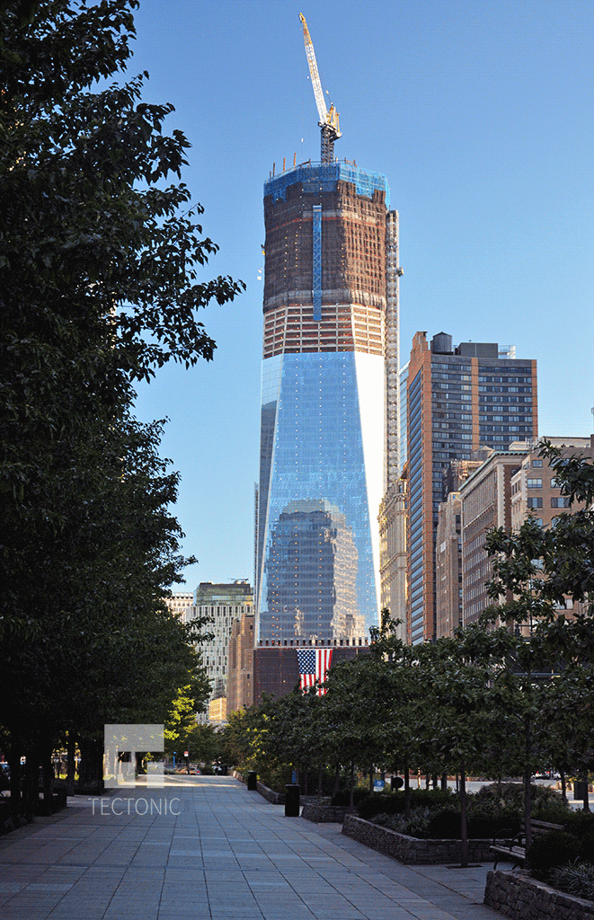 Viewed from Battery Park City in September 2011