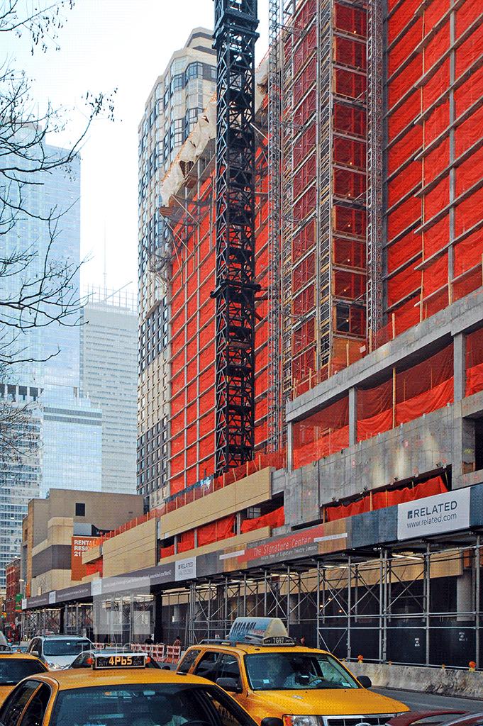 Viewed along 42nd Street