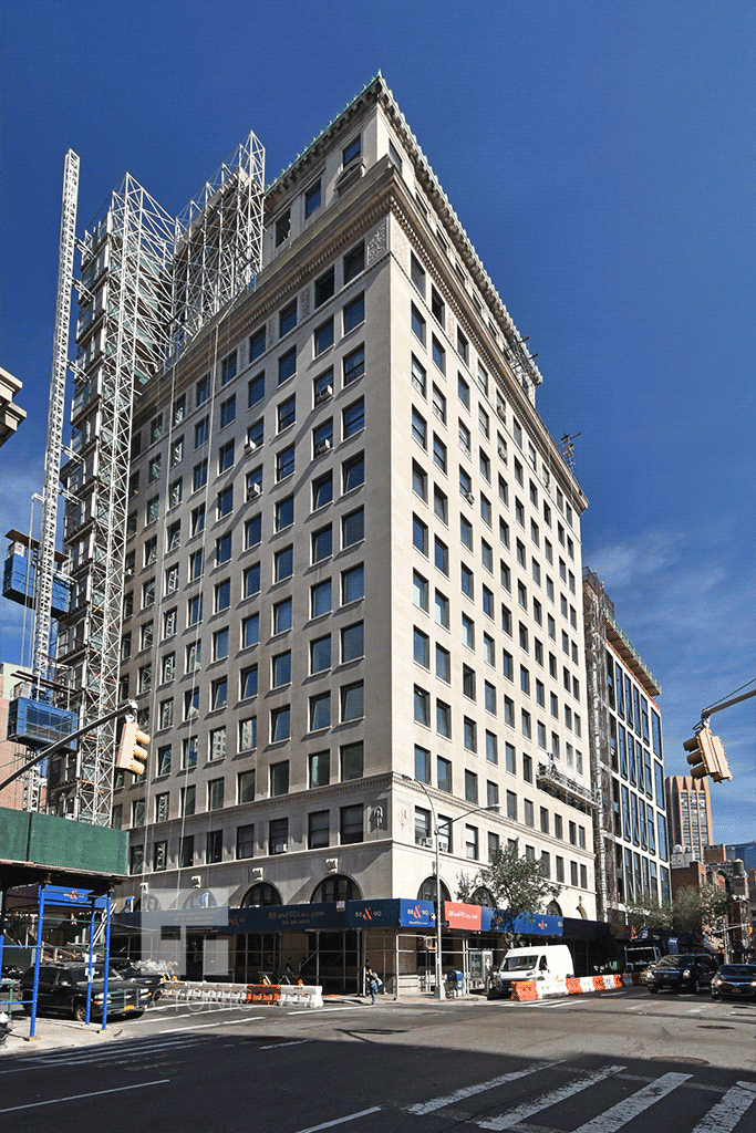 Viewed from the south along Lexington Avenue