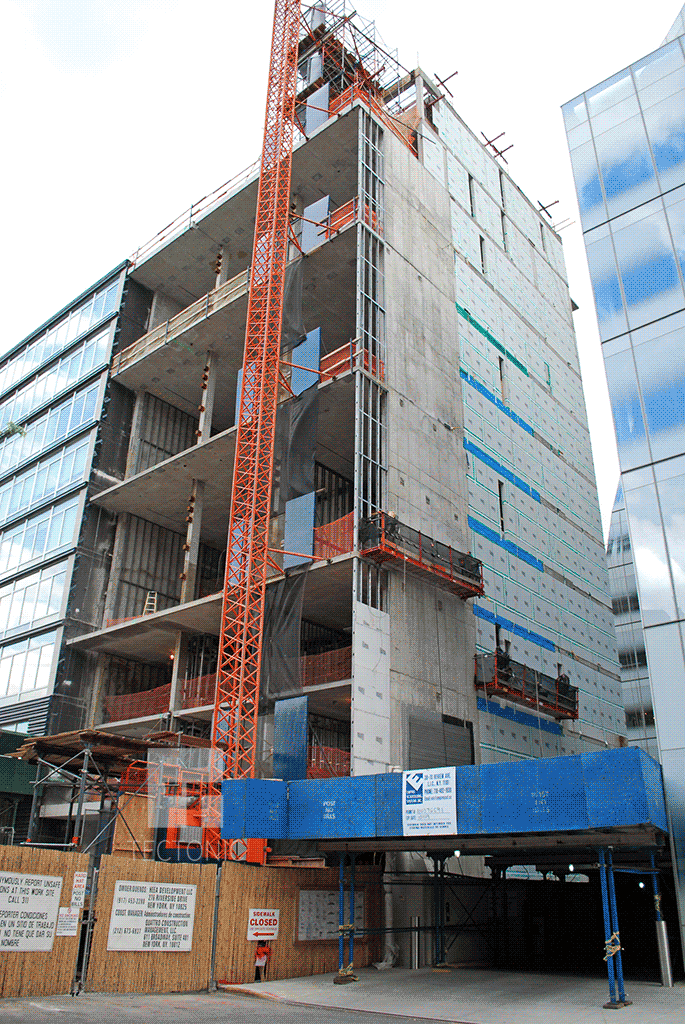 Under construction in 2009