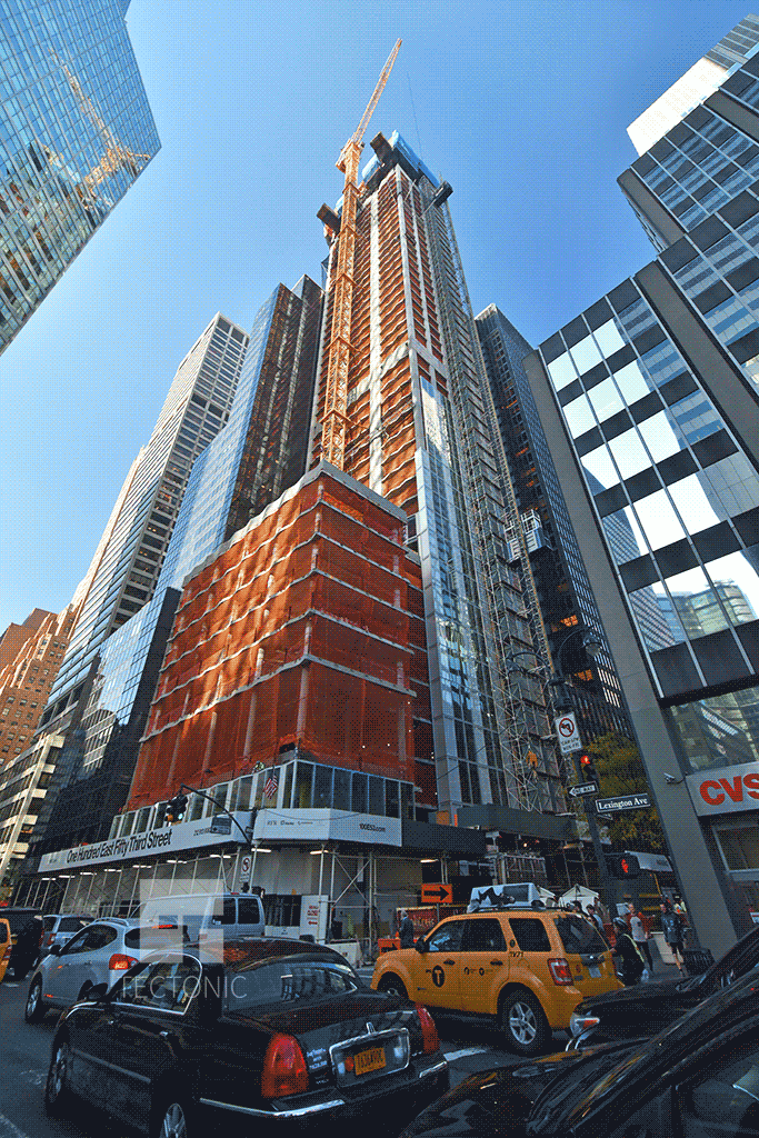 Viewed from Lexington Avenue and East 53rd Street