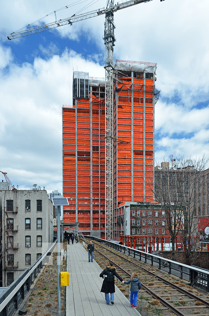 View northward from the High Line Park