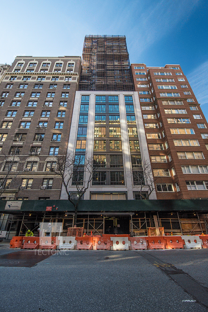 Looking up from East 86th Street