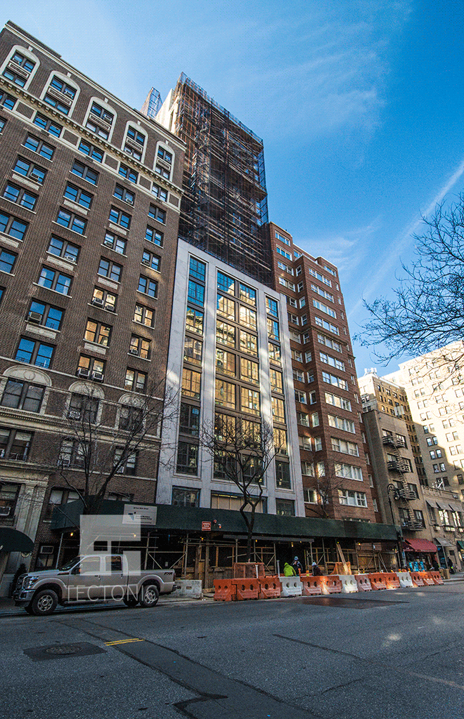 Viewed from the east along East 86th Street
