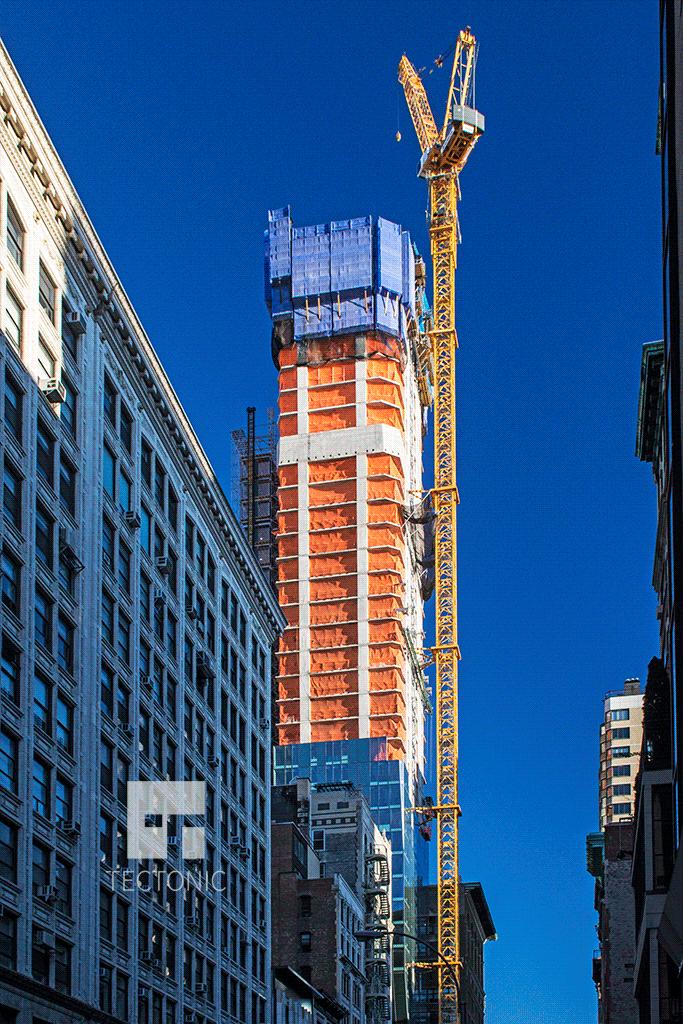 Looking eastward along East 22nd Street