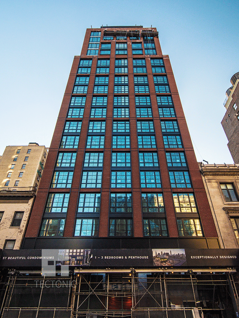 Looking up from East 23rd Street