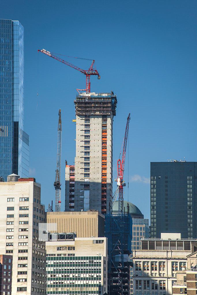 Viewed from the Brooklyn Bridge