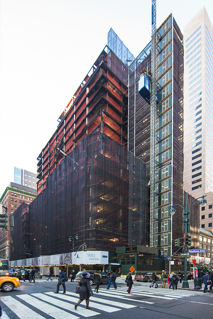 Viewed from East 47th Street and Madison Avenue