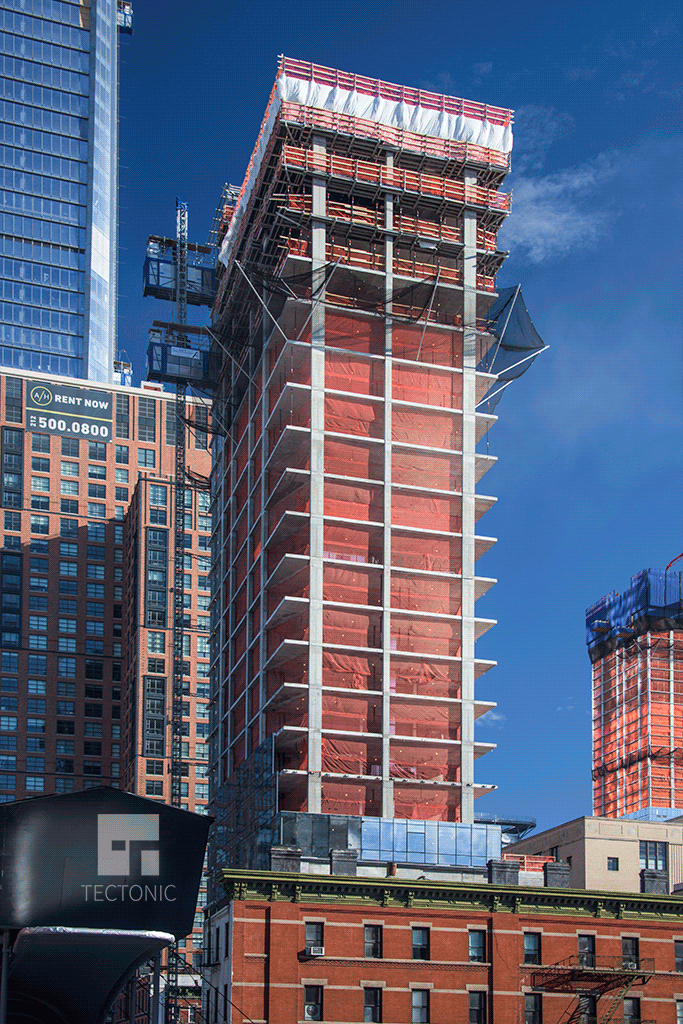 10th Avenue tower viewed from the High Line Park