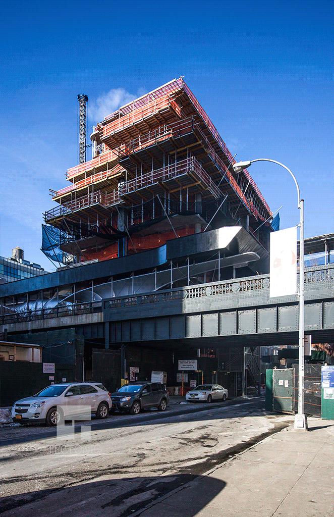 View westward along West 28th Street